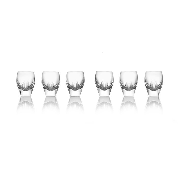 Facet Crystal Shot Glasses Set of 6