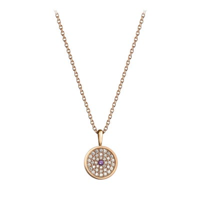 167 Button Pendant, Rose Gold