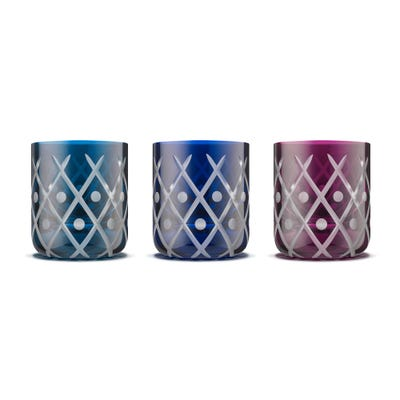 Crosshatch Votives Set of 3
