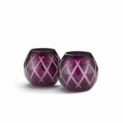 Crosshatch Salt & Pepper Shakers, Purple