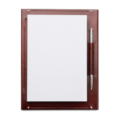 Hanover Desk Memo Pad in Saddle Leather