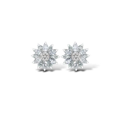 Daisy Heritage Earrings, Diamond