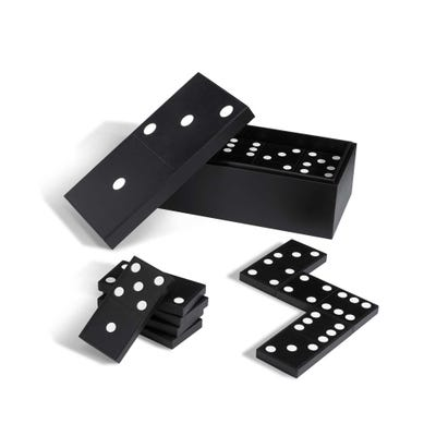 Hanover Carpet Dominoes, Calf Black & White