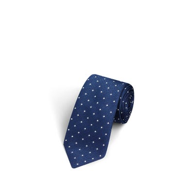 Small Dot Light Navy and White