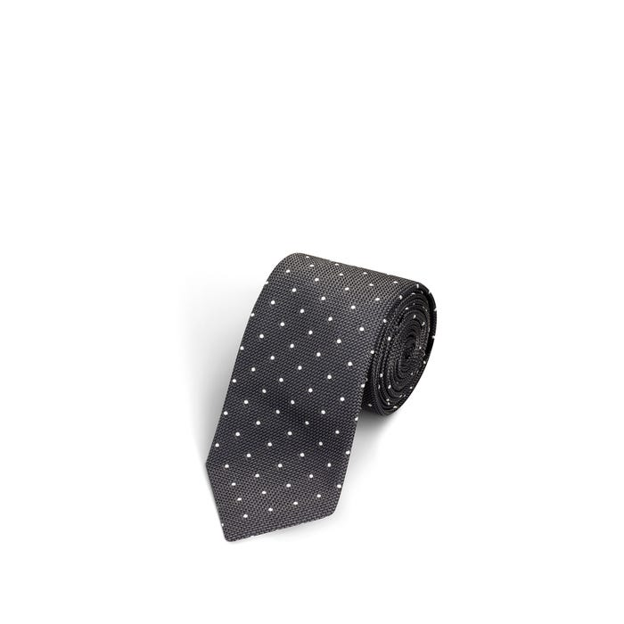 Small Dot Grey and White Tie