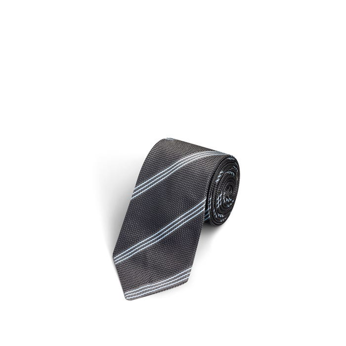 3 Stripes Grey and Light Blue Tie