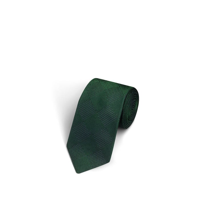 Plain Square Green Tie