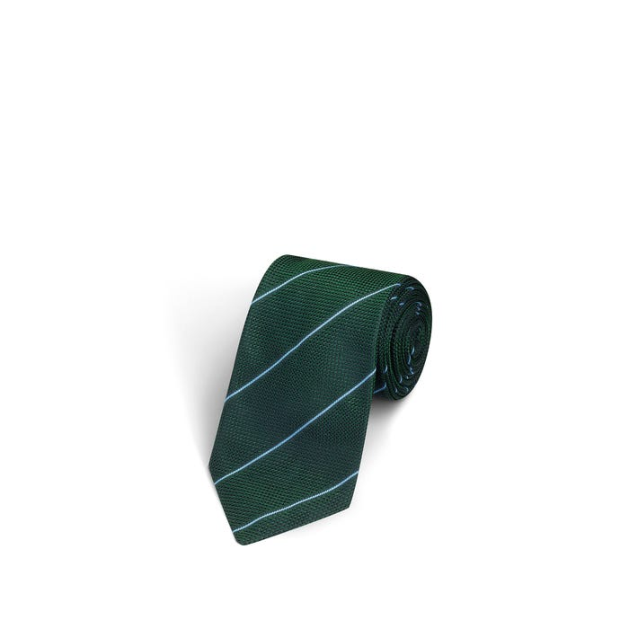 Fine Stripe Green and Blue Tie