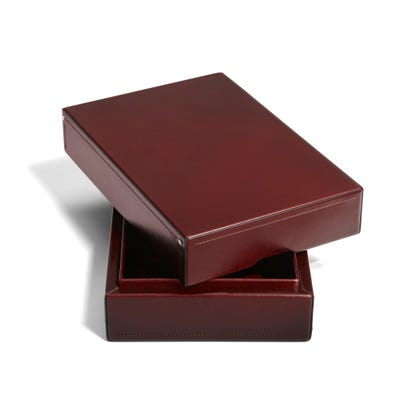 Hanover Desk Top Box in Cinnamon Saddle Leather