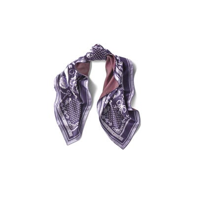 Venetian Square Scarf, Silk Purple