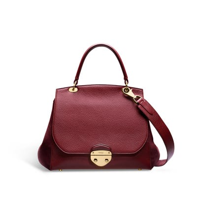 Belle in Cranberry Bullskin & Nubuck