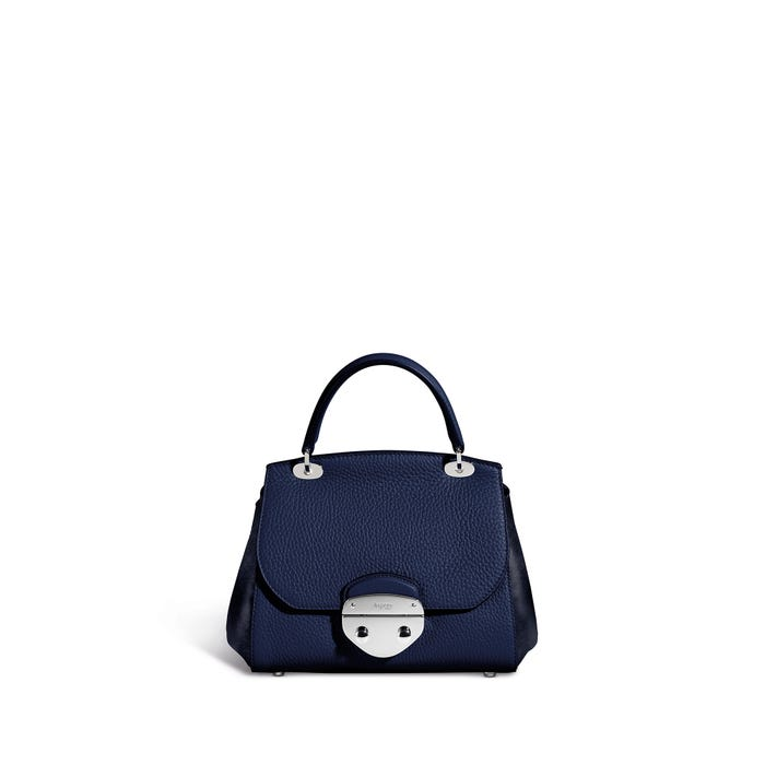 Belle Mini in Blueberry Bullskin & Nubuck