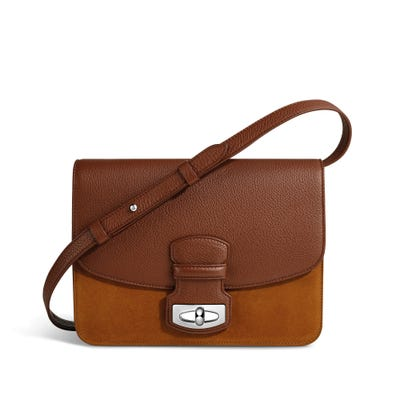 Wiltshire Shoulder Bag in Ginger Bullskin & Nubuck