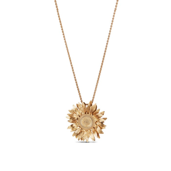 Sunflower Medium Pendant, Yellow Gold