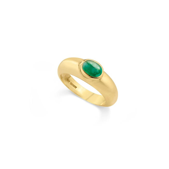 Cabochon Ring, Emerald