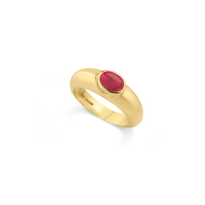 Cabochon Ring, Ruby