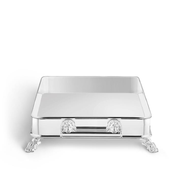 Lion Gallery Tray, Silver