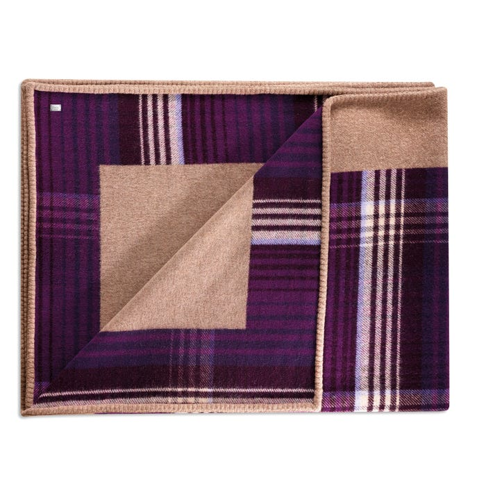 Reversible Throw Lambswool Aubergine