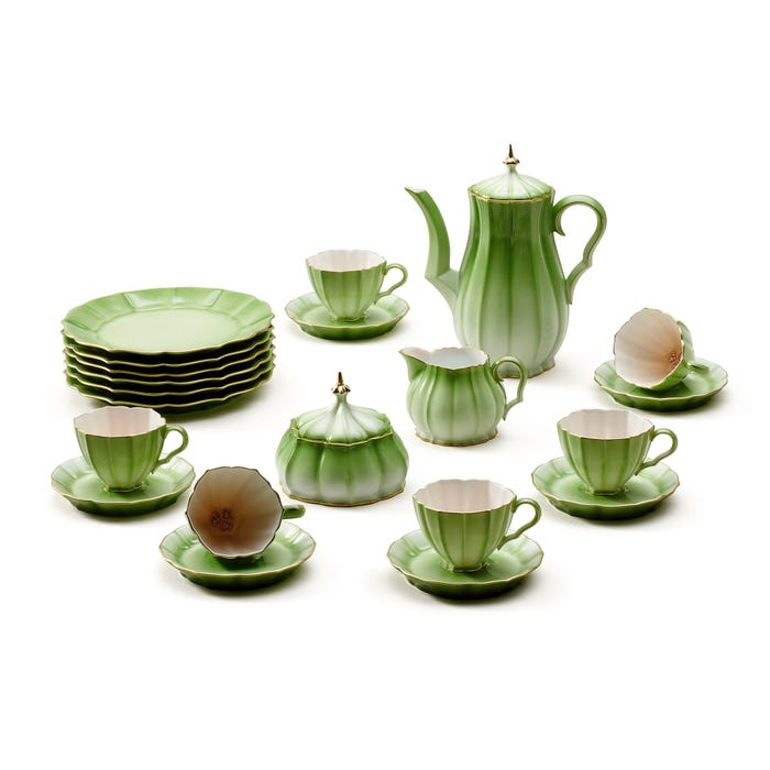 Melon Coffee Set for 6