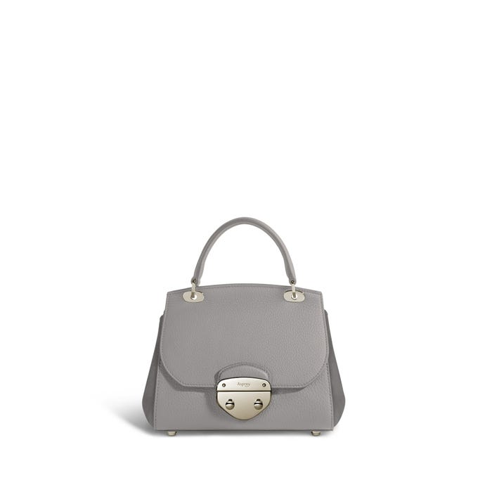 Belle Mini in Silver Grey Bullskin & Nubuck