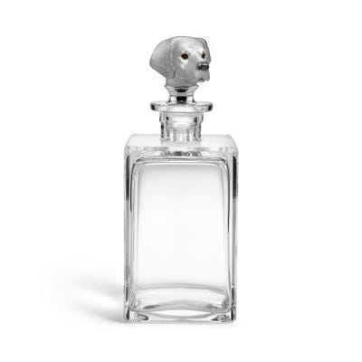 Hound Head Decanter, Clear