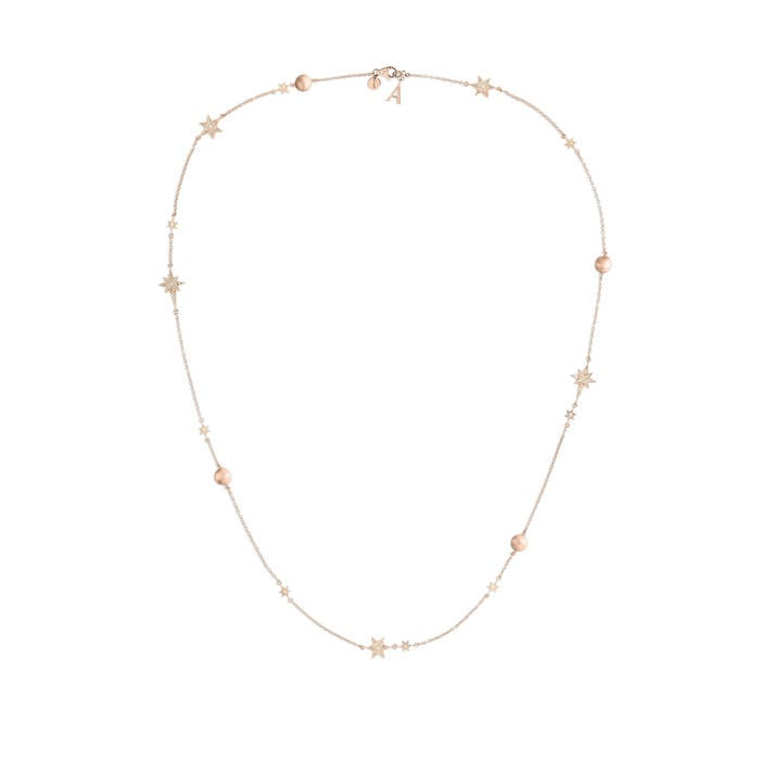 Stargazer Necklace, Rose Gold