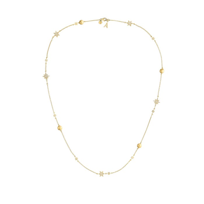 Stargazer Necklace, Yellow Gold