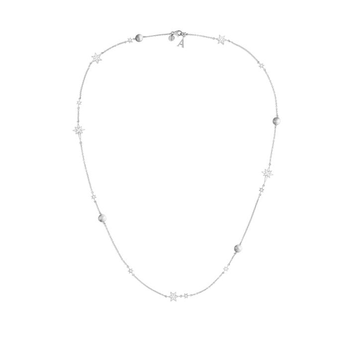 Stargazer Necklace, White Gold