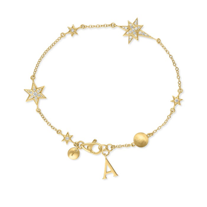 Stargazer Bracelet, Yellow Gold