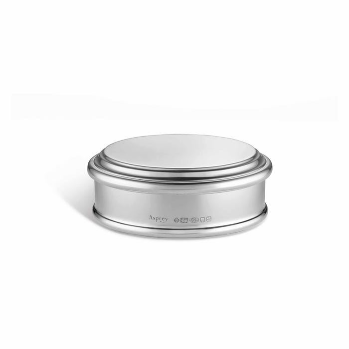 Large Round Raleigh Box, Silver