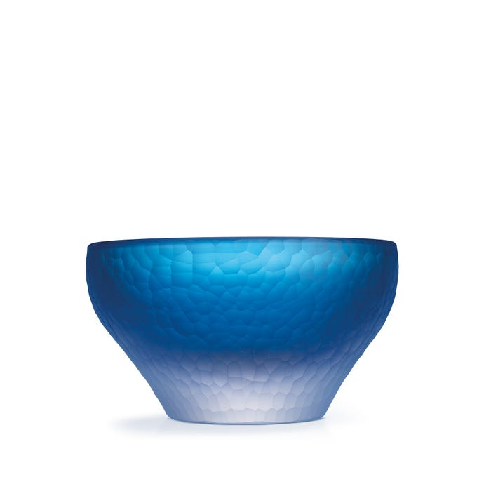 Hammered Crystal Bowl, Blue