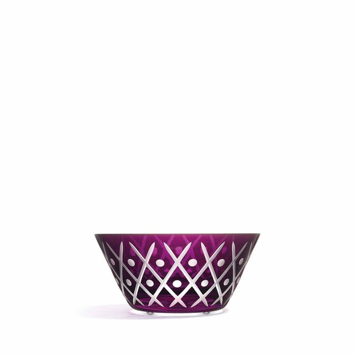 Crosshatch Bowl, Purple