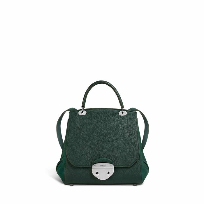 Belle Backpack in Malachite Bullskin