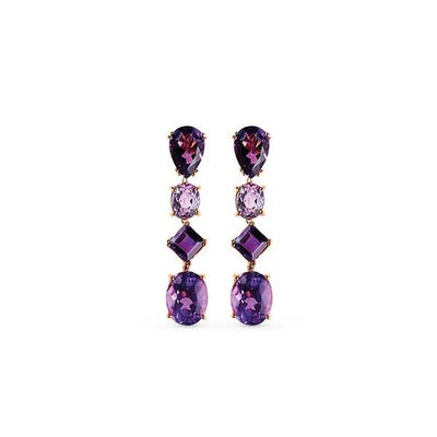 Purple Chaos Earrings