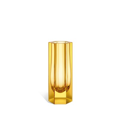Hexagonal Vase, Citrine