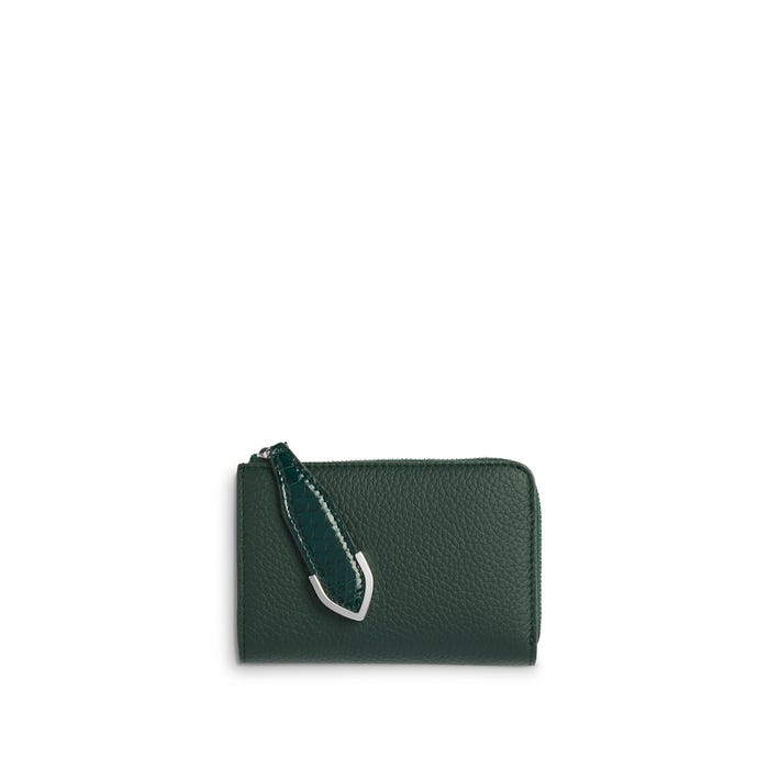 Taylor Small Zip Purse in Malachite Bullskin & Rangoon Python