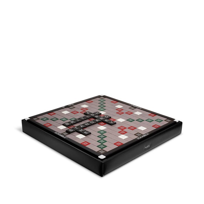 Hanover Scrabble Set in Black Bullskin Case