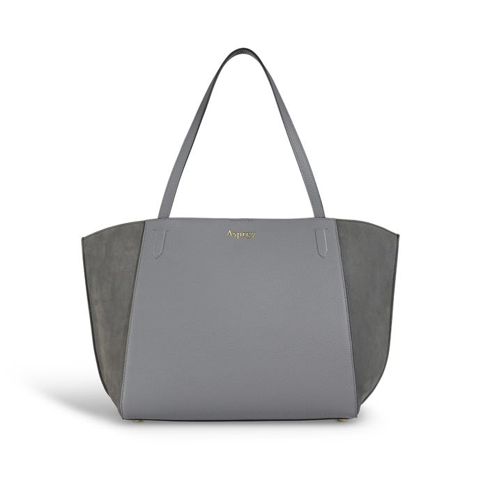 Harbour Tote in Silver Grey Bullskin