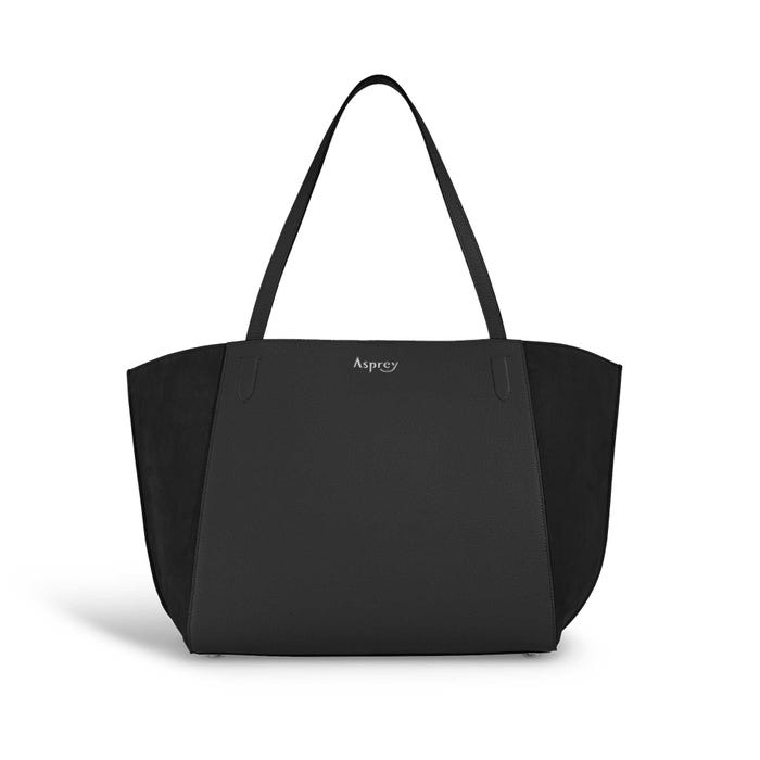 Harbour Tote in Black Bullskin