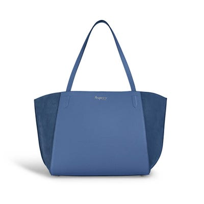 Harbour Tote in Lapis Bullskin