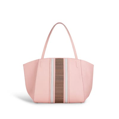 Harbur Tote Small in Rose Petal Bullskin & Horsehair