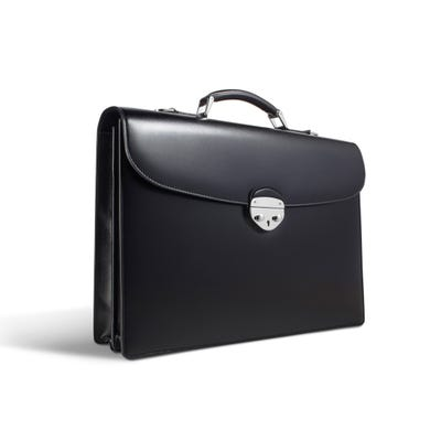 Hanover 2 Briefcase in Saddle Leather