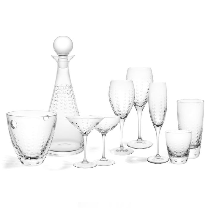 Bubbles White Wine Glass