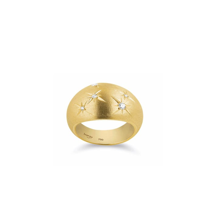 Cosmic Shooting Stars Ring 18ct Yellow Gold Diamond