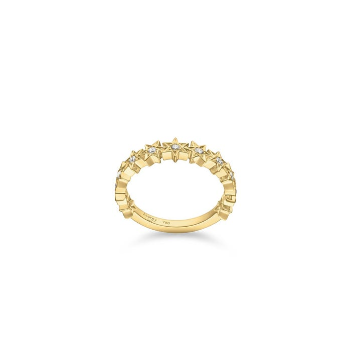 Stargazer Ring, Yellow Gold
