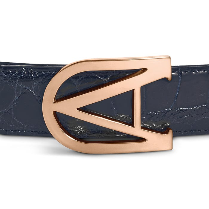 30 mm Burlington Belt Buckle in Rose Gold Finish