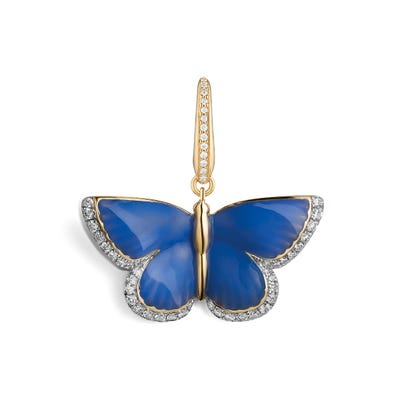 Woodland Butterfly Charm, Blue