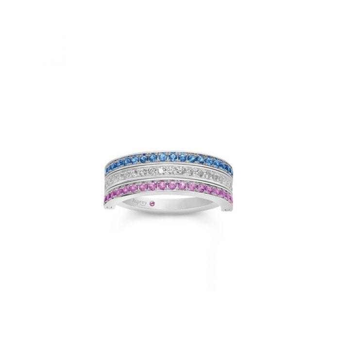 Flip Ring in Sapphire, Diamond and Ruby