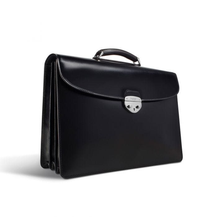 Hanover 3 Briefcase in Saddle Leather