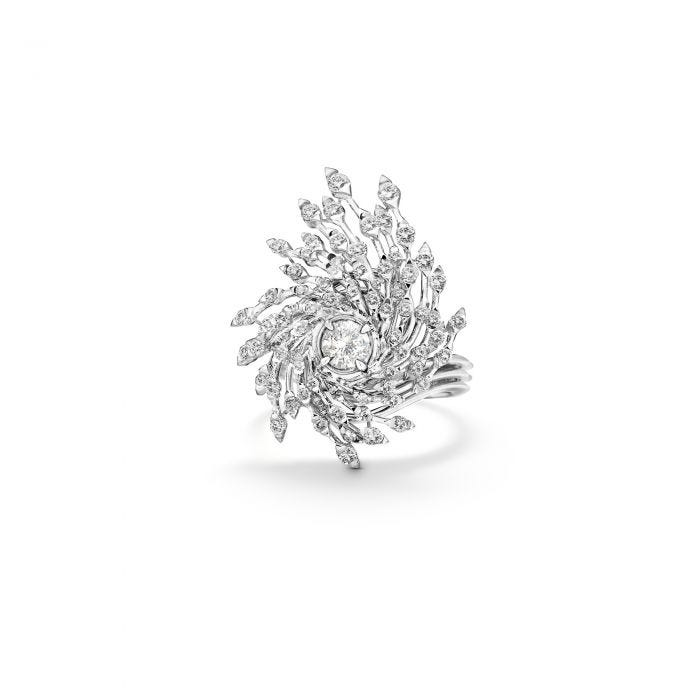 Storm Ring 18ct White Gold, Silver